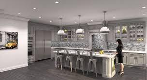 contemporary grey kitchen