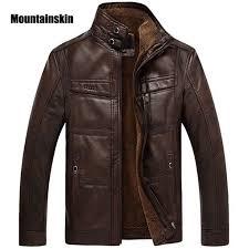 Mountainskin <b>Leather Jacket Men</b> Coats 5XL Brand <b>High</b> Quality PU ...