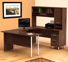 desk attractive best office desk manufacture wood construction brown walnut finish 9 bookcase shelves 3 attractive wooden office desk