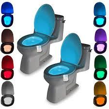 <b>LED</b> Toilet Light PIR Motion Sensor 8 Colors <b>Toilet Seat Night</b> Light ...