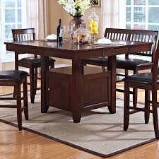 tabacon counter height dining table wine: counter height table with storage base vidrian