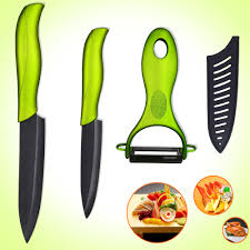ceramic kitchen knife utility: good ceramic kitchen knives set  inch slicing  inch utility knife with a sharp blackgreen peeler kitchen tools cooking knife in kitchen knives from home