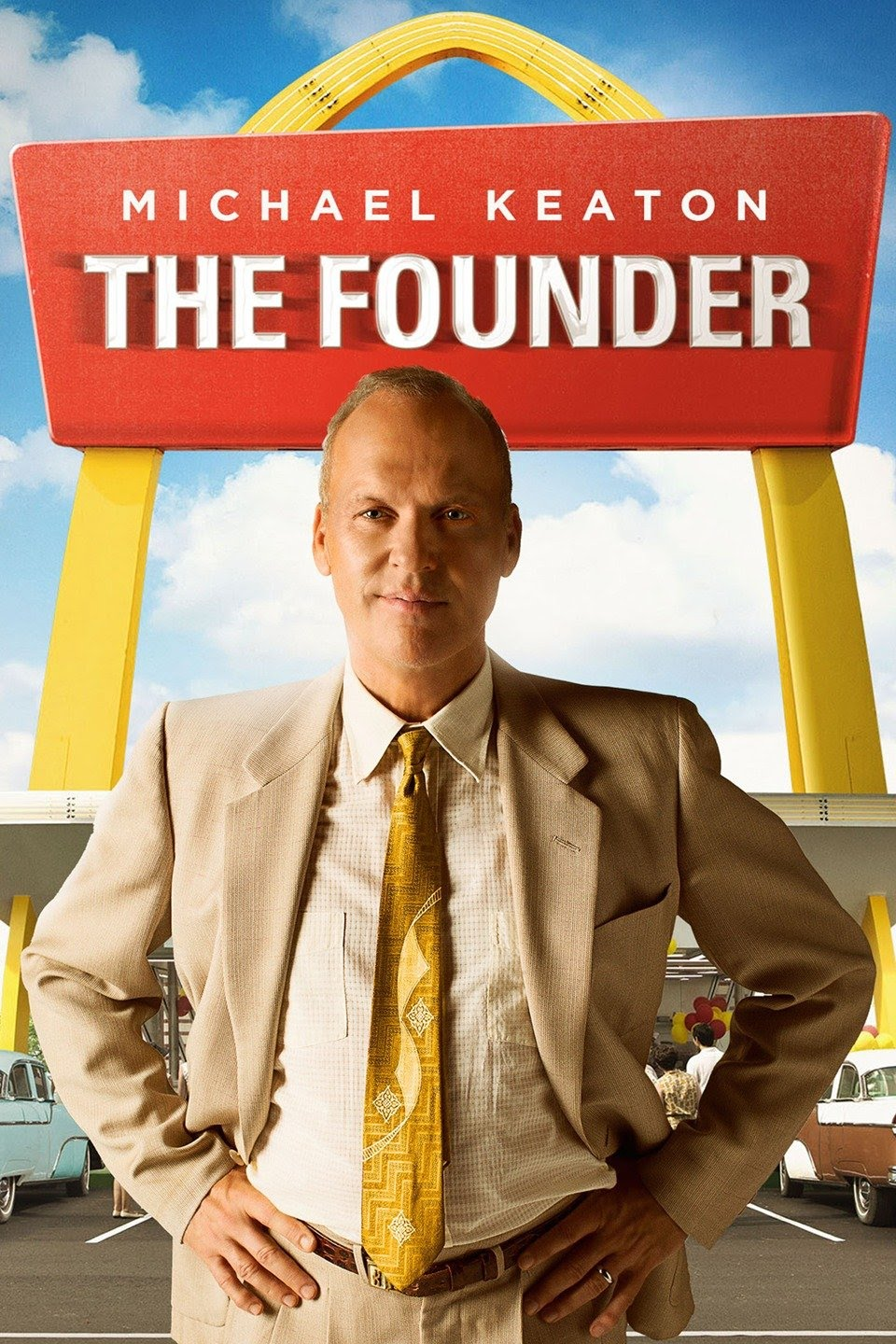 A poster for 'The Founder,' as described. One of my top films for entrepreneurs.
