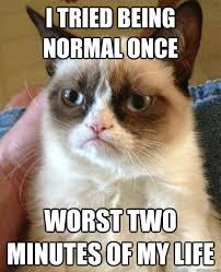 I tried being normal once Worst two minutes of my life - Misc ... via Relatably.com