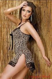 Купить <b>Леопардовая сорочка</b> со стрингами Сhilirose CR3166S/M ...