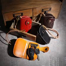 <b>YIFANGZHE Keys Wallet</b> Organizer , Premium Cowhide Leather ...
