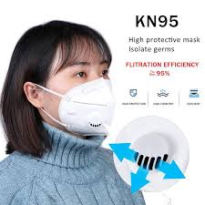 KN95 <b>Respirator Mask Anti Dust Reusable</b> Face <b>Mask</b> PM2.5 Filter ...