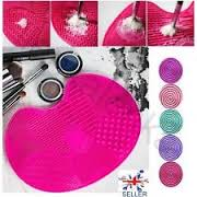 silicone makeup brush cleaner cleaning scrubber board mat pad tool uk