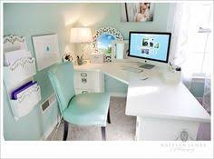 chic and feminine home offices that you will love chic mint teal office