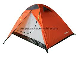 China Double Layer <b>Camping Tent</b> for <b>2-3 Persons</b> Water Proof ...