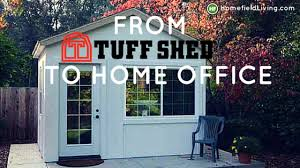 lighting and gutters to his backyard office after going through his options john chose a tuff shed pro tall ranch as the basis for his building backyard home office build