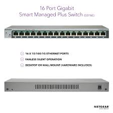 NETGEAR <b>16</b>-<b>Port Gigabit Ethernet</b> Smart Managed Plus <b>Switch</b>