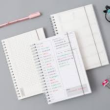 Daily Weekly Monthly 2019 2020 Planner Spiral <b>A5</b> Notebook Time ...
