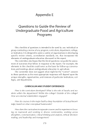 appendix e questions to guide the review of undergraduate food page 179