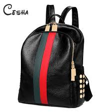 Luxury Famous Brand Designer <b>Women PU Leather Backpack</b> ...