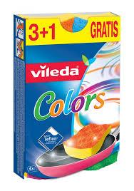 Купить <b>Губка Vileda Pure Colors</b> 3+1 шт по выгодной цене