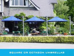 patio umbrella blue