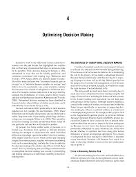 4 optimizing decision making opportunities in neuroscience for page 36