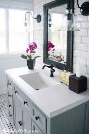 bathroom vanities tops choices choosing countertops: gray bathroom the lily pad cottage via centsational girl wondering if its possible to