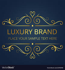 <b>Luxury brand</b> gold text template <b>vintage design</b> vec
