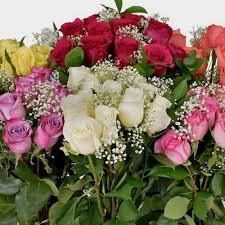 Rose Bouquet <b>12</b> Stem - <b>Assorted Colors</b> 50cm - <b>Wholesale</b> ...