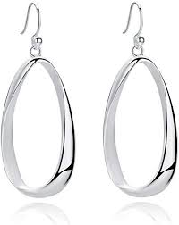 SA SILVERAGE Sterling Silver Twisted Hoop Earrings ... - Amazon.com