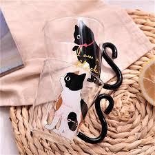 <b>250ml Creative</b> Cat <b>Coffee Mug Cup</b> Tea Milk Glass <b>Cup</b> Dots Kitty ...