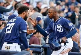 padres rack up hits and a win against bumgarner giants justin upton matt kemp