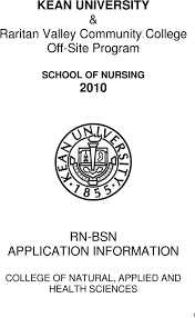 kean university raritan valley community college off site 2010 rn bsn application information
