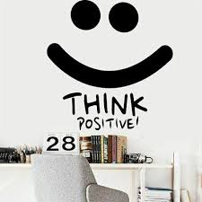 <b>Smiling Quotes</b> Removable <b>vinyl</b> Wall Stickers For Home Decor ...