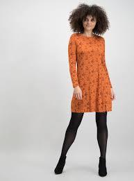 Womens <b>Halloween Dark</b> Orange <b>Pumpkin Print</b> Swing Dress | Tu ...