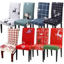 Removable <b>Christmas Theme</b> Dining Room Chair Cover Elasitc ...