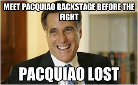Meet pacquiao backstage before the fight Pacquiao lost - Mitt ... via Relatably.com