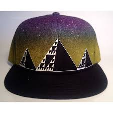 Ancient Future Glow in the Dark Airbrushed Fitted Hat ($65) liked on ...