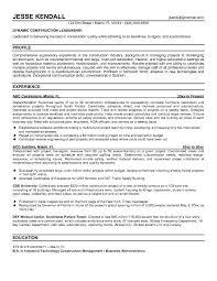 free construction superintendent resume example construction superintendent resume examples