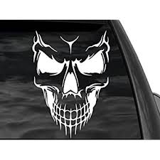 Reaper Horse <b>Skull Head</b> Car Sticker Decal Rear Window Label ...