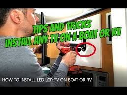 HOW TO INSTALL LED LCD TV ON MOUNT IN A <b>BOAT</b> / RV without ...