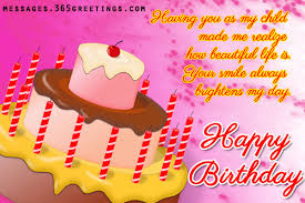 Birthday Wishes for Daughter Messages, Greetings and Wishes ... via Relatably.com