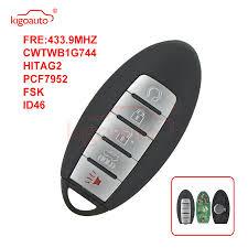 <b>KIGOAUTO smart key</b> 5 button 433.9MHZ FSK HITAG 2 ID46 ...