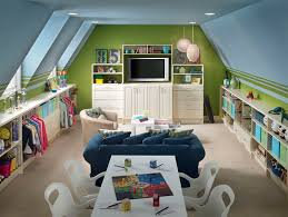 playroombonus room this is pretty sweet i like the low shelving along bonus room playroom office