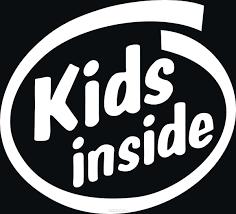 """""""kids inside"""" для авто или интерьера, <b>Винил</b>"""