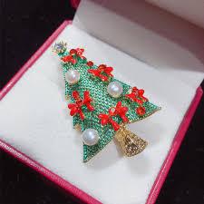 <b>SHDIYAYUN</b> 2019 New <b>Pearl</b> Brooch Christmas Tree Brooch For ...