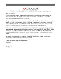 grants administrative assistant cover letter example perfect cover letter examples