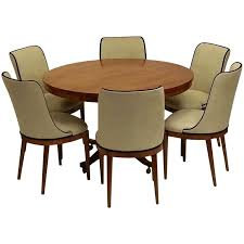 art deco dining chairs set of 6 french art deco walnut dining chairs circa 1940s table art deco dining set