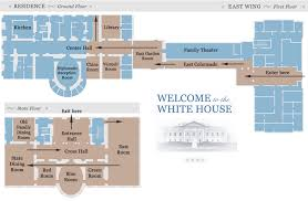White House Tours   Tickets  Maps  and PhotosOfficial White House tour map   East Wing Lobby  East Garden Room  East Colonnade