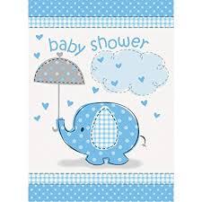 Blue Elephant Boy Baby Shower Invitations, 8ct ... - Amazon.com
