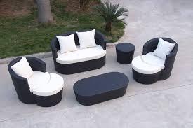 12 inspiration gallery from modern black wicker outdoor furniture design black outdoor furniture