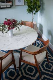 round white marble dining table: lexmod lippa artificial marble dining table also available with a real marble top might tie the gray and white kitchen together