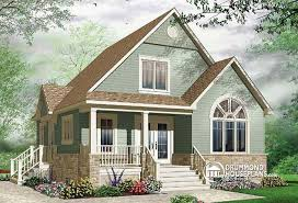 House plan W detail from DrummondHousePlans comfront   BASE MODEL Affordable Craftsman inspired home   cathedral ceiling and mezzanine   Minuet