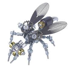 126Pcs <b>3D Metal</b> DIY Mechanical Wasp <b>Insect Puzzle</b> Model <b>Puzzle</b> ...
